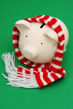 Piggy Bank with Scarf Stock Photo