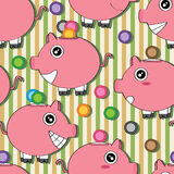 Piggy Bank Seamless Pattern_eps Stock Photography