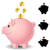 Piggy bank set Royalty Free Stock Photo