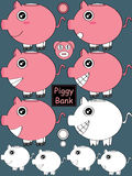Piggy Bank Set_eps Stock Image