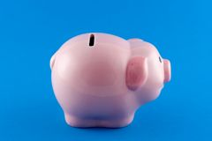 Piggy Bank Side-On. Sideways view of a piggy bank Stock Photography