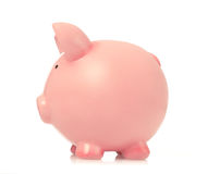 Piggy bank side view. Piggy bank  side view, white background Royalty Free Stock Images