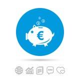 Piggy bank sign icon. Moneybox symbol. Royalty Free Stock Photos
