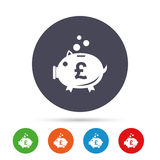 Piggy bank sign icon. Moneybox symbol. Royalty Free Stock Image