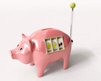 Piggy bank slot machine Stock Image