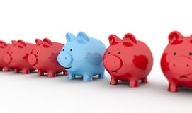 Piggy bank smile Royalty Free Stock Photo