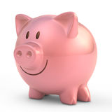 Piggy Bank. With smiling face Royalty Free Stock Photo