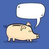 Piggy Bank and Speech Bubble Stock Image
