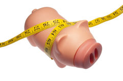Piggy Bank Squeezed Royalty Free Stock Image