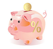 Piggy bank style money box Royalty Free Stock Images