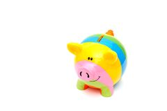 Piggy bank style money box Stock Photos