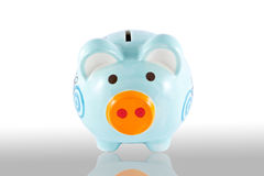 Piggy bank style money box isolated Stock Images