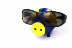 Piggy Bank and Sunglasses Royalty Free Stock Photo