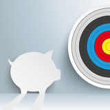 Piggy Bank Target Stock Photo