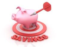 Piggy Bank on Target Royalty Free Stock Image