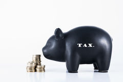 Piggy Bank - Tax Stock Photos