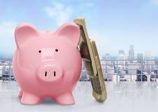 Piggy Bank Telephone Stock Photo