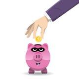 Piggy Bank Thief Stock Photos