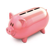 Piggy Bank Three Hole Stock Images