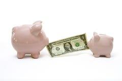 Piggy Bank Tog-O-War Stock Photography