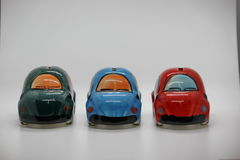 Piggy bank. And toy cars use to save money Royalty Free Stock Image
