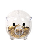 Piggy bank transparent piggy Royalty Free Stock Images