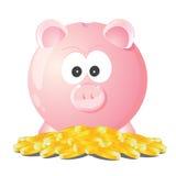 Piggy bank treasuer Royalty Free Stock Image