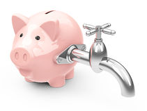 Piggy bank with valve Royalty Free Stock Photos