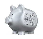 Piggy Bank with Vault Door Royalty Free Stock Image