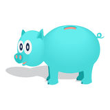 Piggy bank. Vector illustration. Piggy bank with shadow. Vector illustration, isolated from background Royalty Free Stock Photography