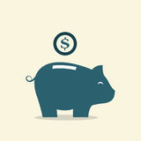 Piggy bank. Vector image of an piggy bank Stock Photo