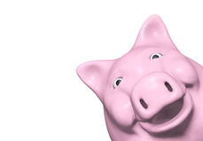 Piggy bank is watching from a corner Stock Photo