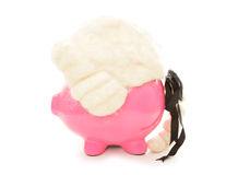 Piggy bank wearing judges wig Stock Photos