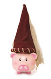 Piggy bank wearing princess hat Stock Photos