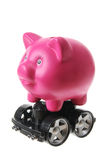 Piggy Bank with Wheels Royalty Free Stock Photography