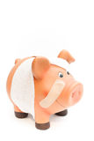 Piggy bank white Royalty Free Stock Photo