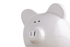Piggy bank on white Royalty Free Stock Image