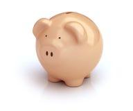 Piggy Bank on white Stock Photos