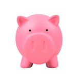 Piggy bank on white background Royalty Free Stock Image