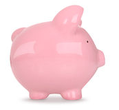 Piggy Bank on White Stock Image