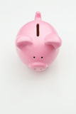 Piggy Bank on White with Copy Space Stock Image