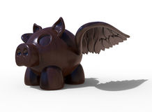 Piggy bank with wings Royalty Free Stock Images