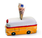 Piggy Bank With The Shape Of Bus Tour Of Malta. Stock Photo