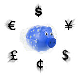 Piggy Bank with Wrapper Royalty Free Stock Photos