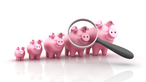 Piggy Bank Zoom Royalty Free Stock Photos