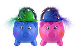 Piggy Banks. On White Background Royalty Free Stock Photography