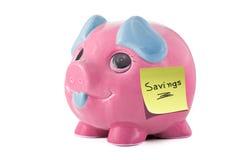 piggy besparingar för grupp Royaltyfria Bilder