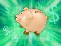 piggy besparingar för grupppengar Royaltyfri Bild
