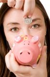 piggy besparingar för grupp Arkivfoton