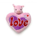 Piggy with big heart Royalty Free Stock Photos